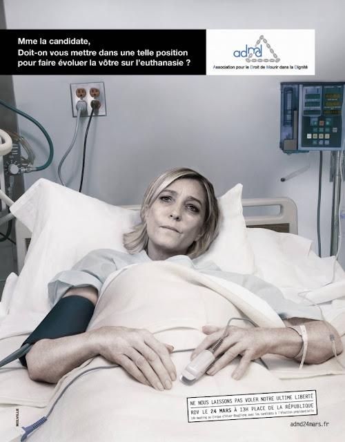 ADMD - Marine Le Pen - Doit-on vous mettre dans une telle position pour faire évoluer la vôtre sur l'euthanasie?