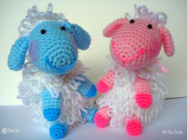 Amigurumi Crochet Lamb : AllSoCute Amigurumis: Crochet Amigurumi Blue Lamb!