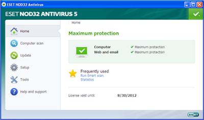 download Antivirus Terbaik ESET NOD32 5 tahun 2012