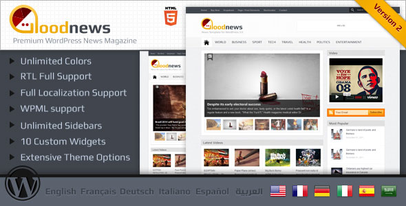 Goodnews – Magazine WordPress Theme Free Download by ThemeForest.
