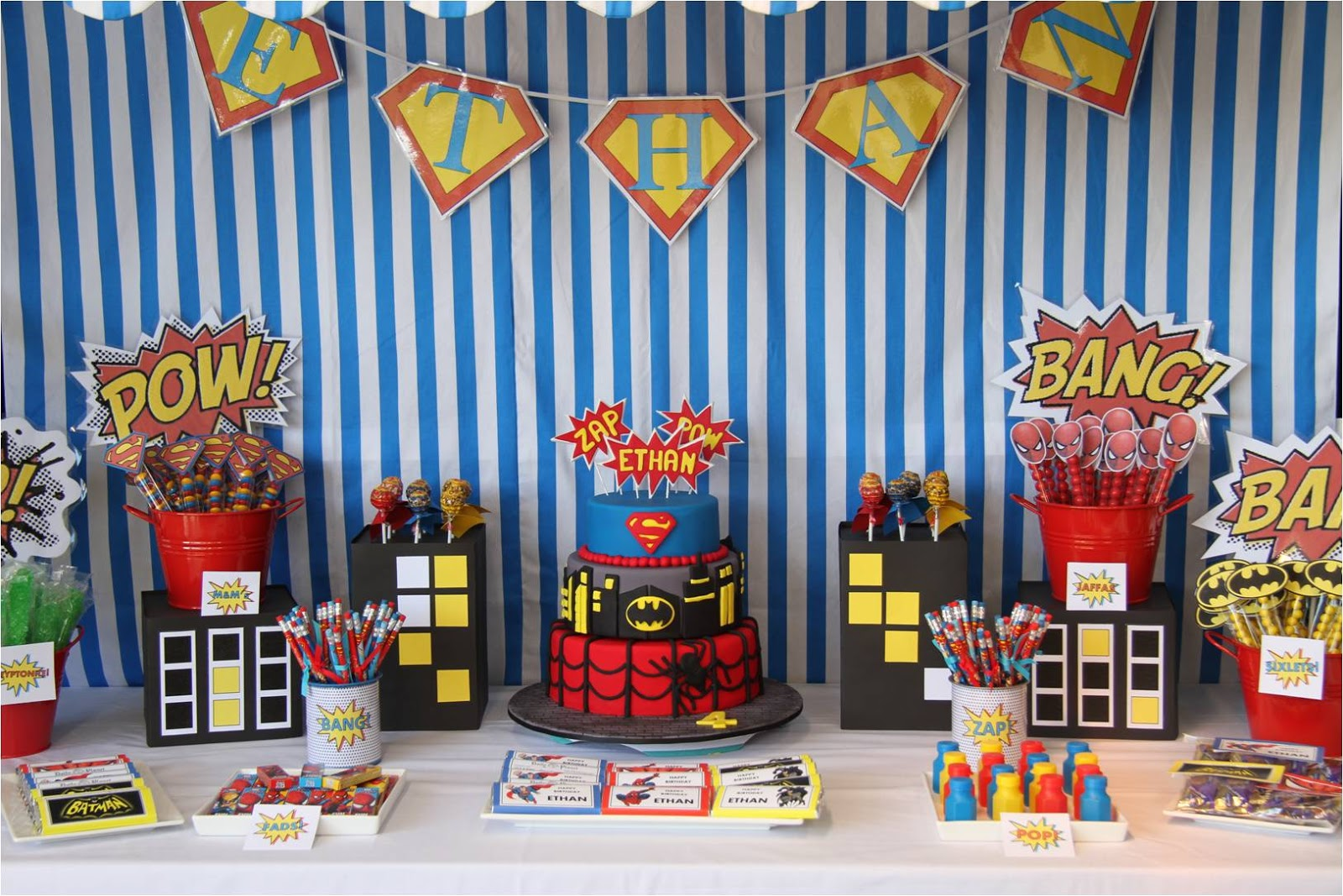 Superhero party decorations party favors ideas for 21st birthday decoration packages