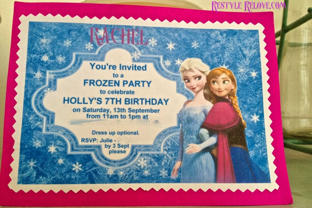 7 Year Old Frozen Birthday Party – 3 Year Old Birthday Invitation Wording