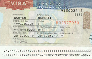 Visa du học hàn quốc