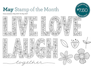May Stamp Of The Month - Live, Laugh Love,
