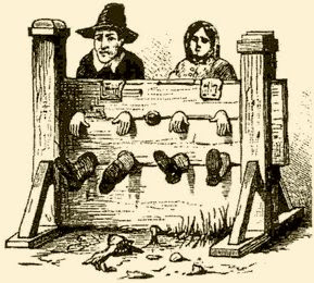Puritans in the stocks