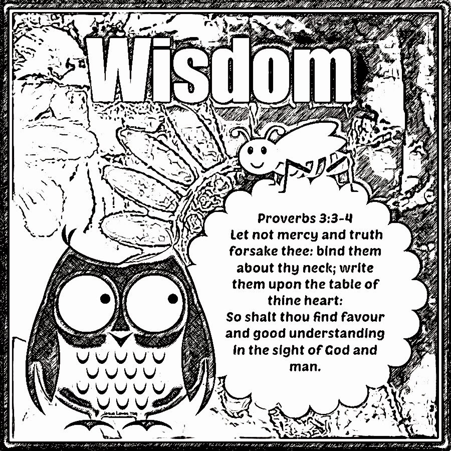 kids coloring pages on wisdom - photo#7