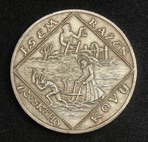 Czechoslovakia Silver Quadruple Ducat Minted In 1928