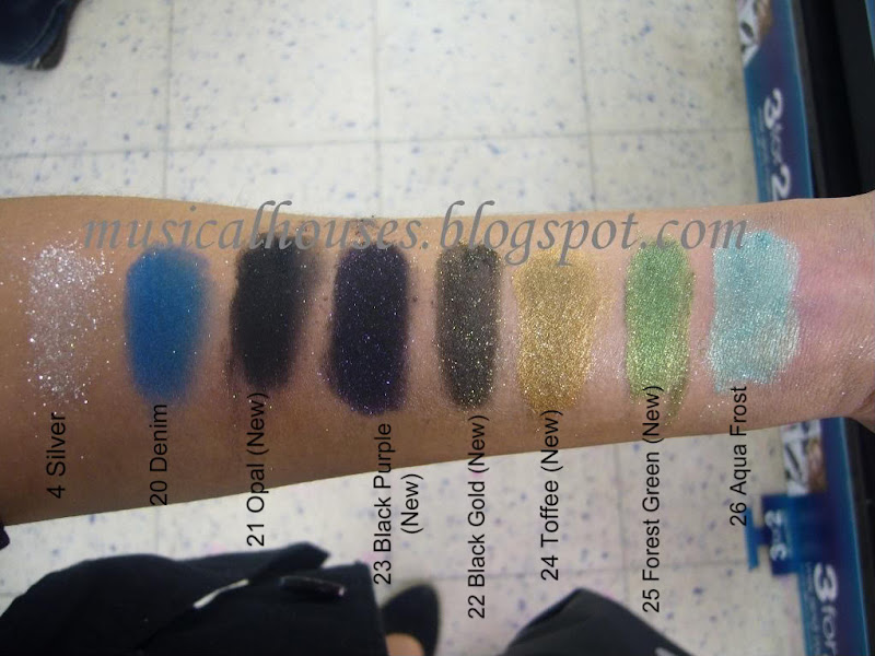 Barry M Fine Glitter Dust Swatches