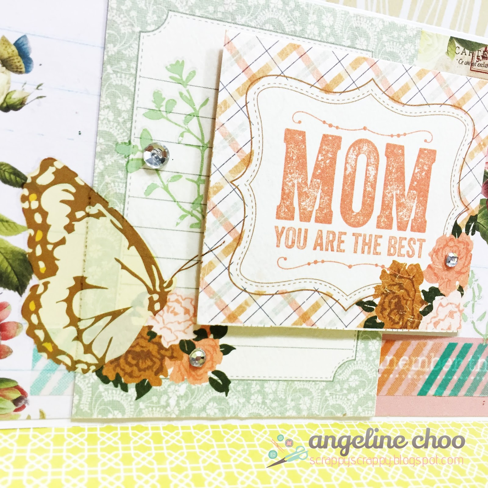ScrappyScrappy: Mom you are the best #scrappyscrappy #mothersday #scrapncrop #card