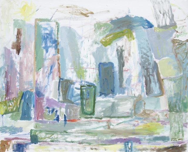 'Where Sunlight Gathers' - Acrylics on Canvas' - 100 x 81 cm - Niklas J Brandow