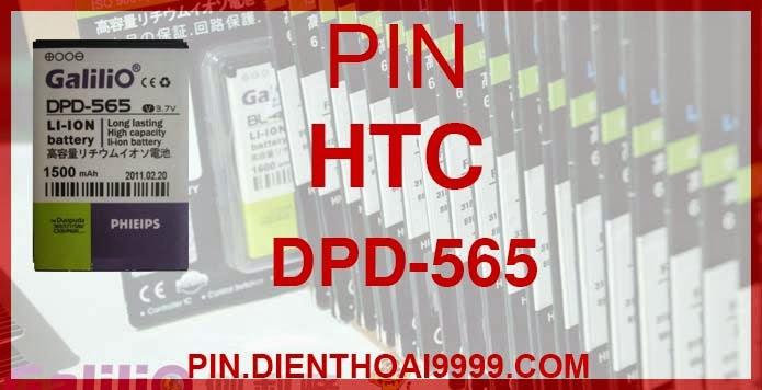 Pin HTC DPD 565  - Pin Galilio HTC DPD 565 dung lượng cao 1500 mAh - Giá 180k - Bảo hành: 6 tháng  - Pin tương thích với điện thoại HTC s620/C720/ 310/ 565/ 566/ 568/ 575/ 585/ 586/ 596/ C500/ C550/ C577/ C600/ P660/ P3470/ SPV C500/ SPV C550/ HTC Feeler/ HTC Sonata/ HTC Amadeus/ I-mate SP3/ QTEK 8020/ 8300/ 8310/ dopod Viva/ O2 XII/ HTC MTEOR/ QTEK 8100/ T2222/ T2223/ XPHONE II 310  Thông số kĩ thuật: - Pin HTC DPD 565 1500 mAh được thiết kế kiểu dáng và kích thước y như pin nguyên bản theo máy, Pin tiêu chuẩn, chất lượng như pin theo máy. - Kích thước: 4.4 x 36.5 x 5.7mm - Dung lượng: 1500mAh - Điện thế: 3.7V - Công nghệ: Pin Li-ion Battery