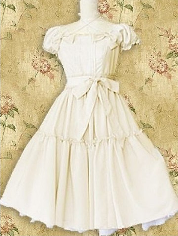 White Bow Classic Lolita Dress
