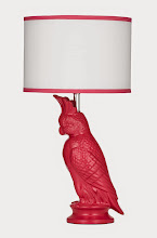 Pretty Pink Polly Lamp