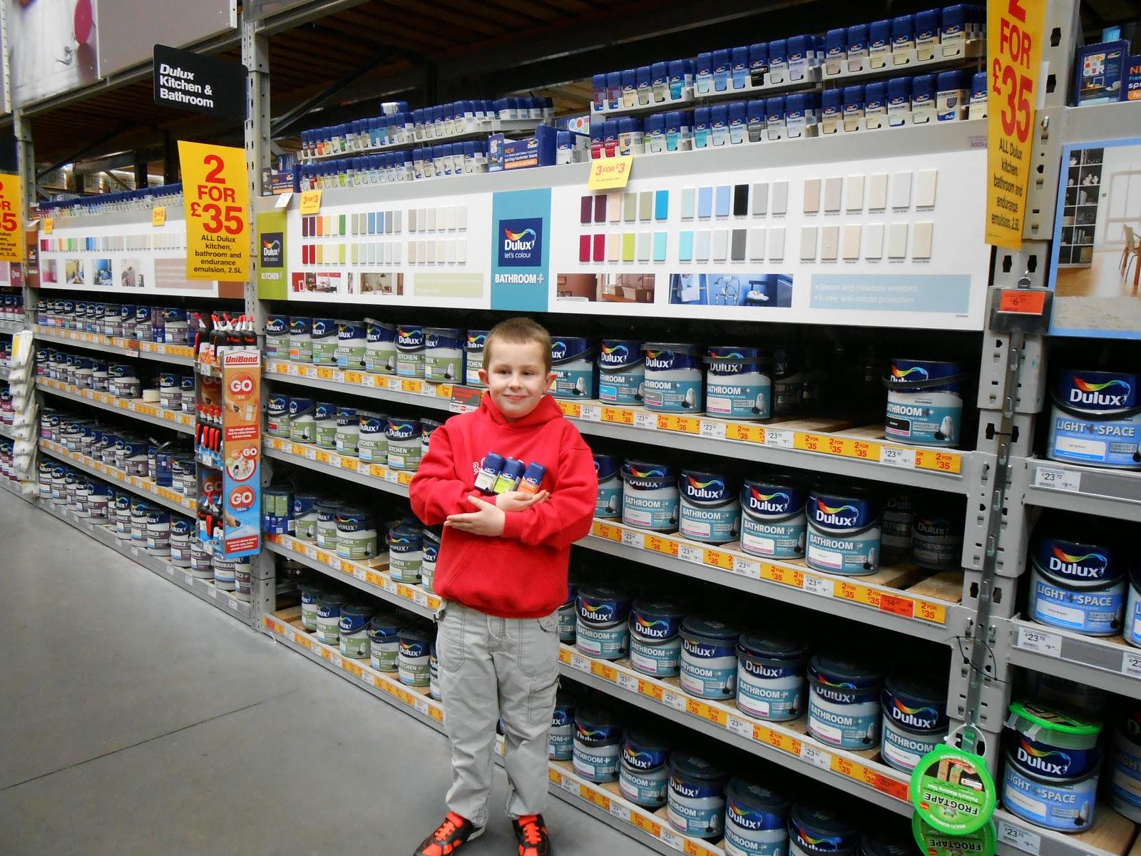 dulux paint pot selection B+Q DIY warehouse portsmouth