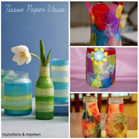 Tissue Paper Vases Munchkins And Mayhem