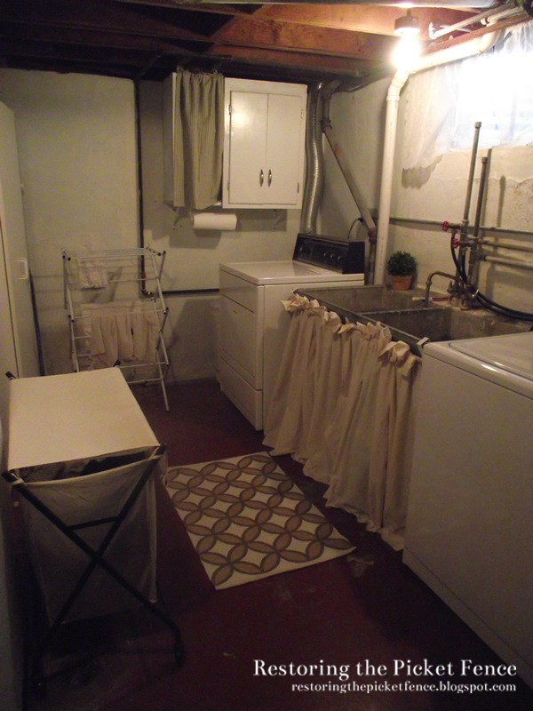 Basement laundry makeover