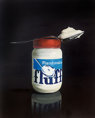marshmallow fluff original oil painting