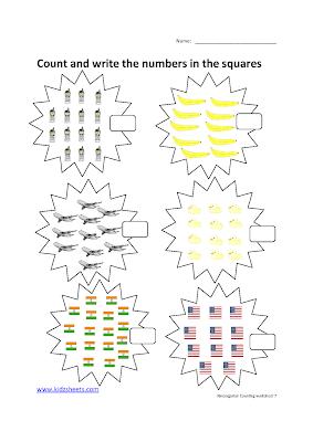 Free Printable Kindergarten Worksheets, Free Worksheets, Kids Maths Worksheets, Maths Worksheets, Kindergarten Counting Worksheets, Counting, Kindergarten, Kids Counting Worksheets