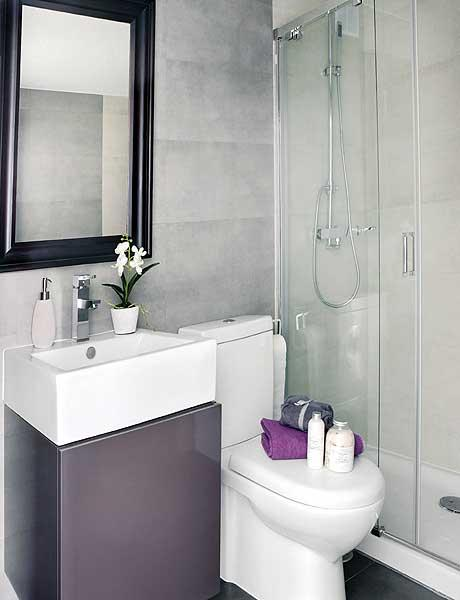 Baño Gris Decoración:Very Small Bathroom Design Ideas