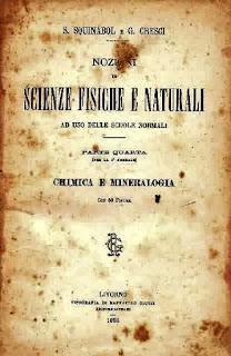 Garganistan Gargano Scienze Fisiche e Naturali professor Squinabol chimica e mineralogia 1898