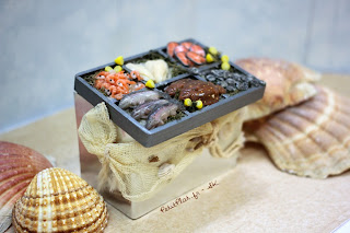 Miniature Fish Stall - Shell Fish, Salmon, Shrimps for your Shop