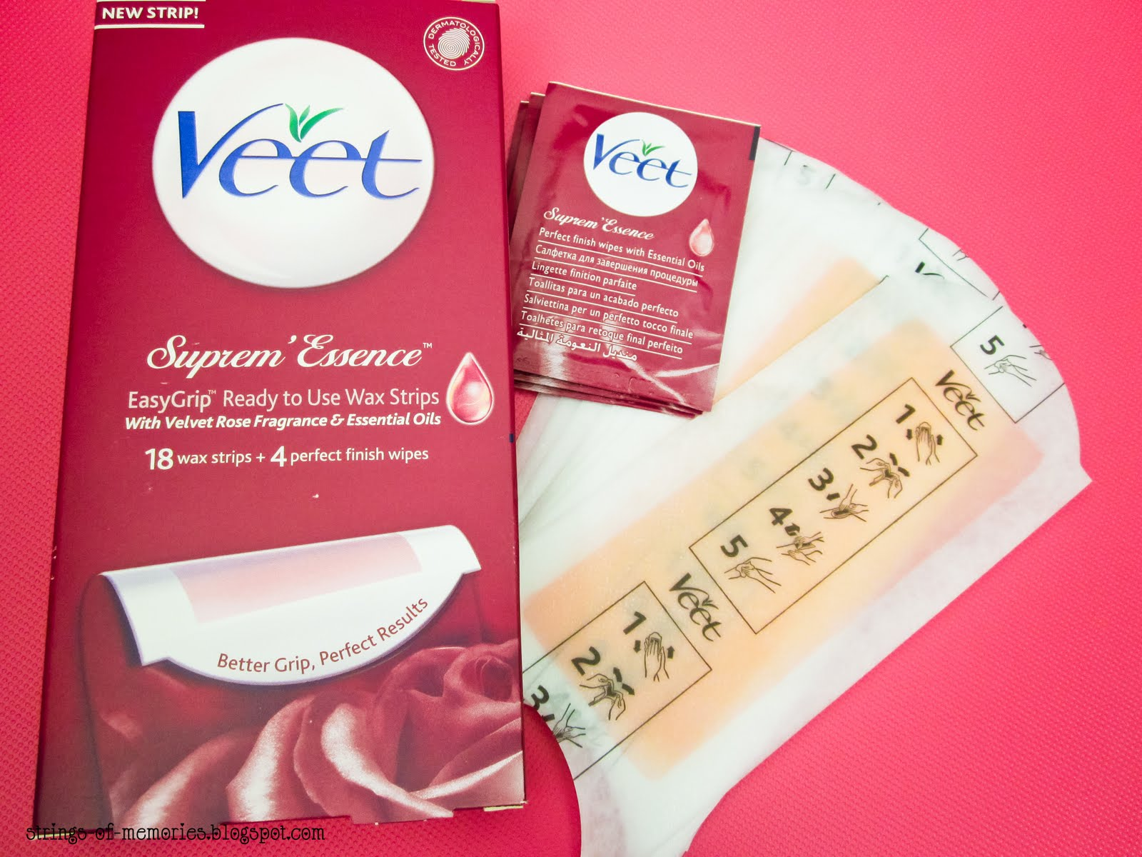 ... underarms and bikini line. Veet Suprem' Essence Wax Strips, RM27.90