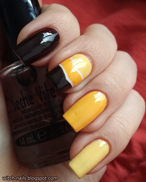 yellow brown ice cream coffee manicure tutorial