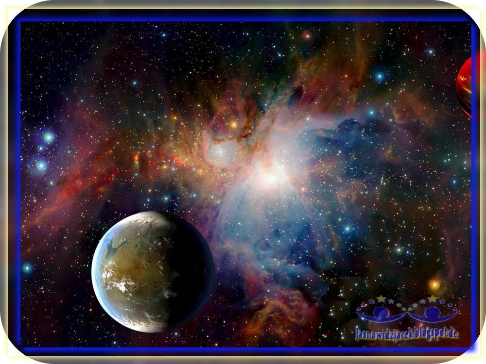 Piękno wszechświata - Mgławica Przestrzeń Planeta
