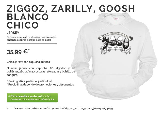 Ziggoz, Zarilly, Goosh jersey