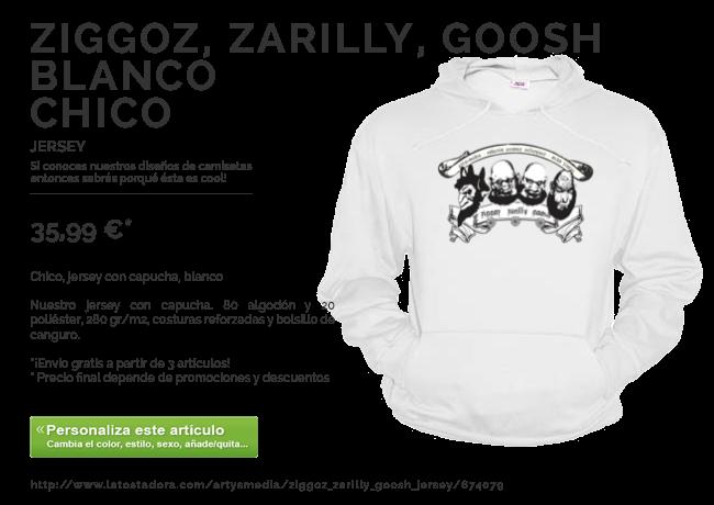 Ziggoz, Zarilly, Goosh jersey