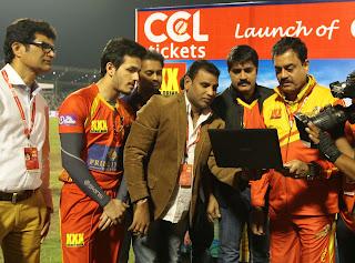 Indian Actor Actress Telugu Warriors Vs Bengal Tigers Match Pictures at CCL 5  5488.JPG