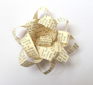 Upcycled paper bow tutorial