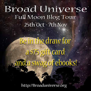 Full Moon Broad Universe Blog Hop and speculative fiction horror fantasy Giveaway