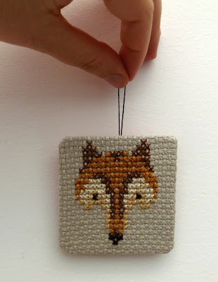 cross stitched fox