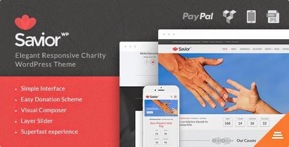 Savior Events & Donations WordPress Theme