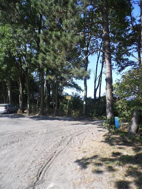 Plaża przy drodze z Sarbinowa Morskiego do latarni w Gąskach - zejście