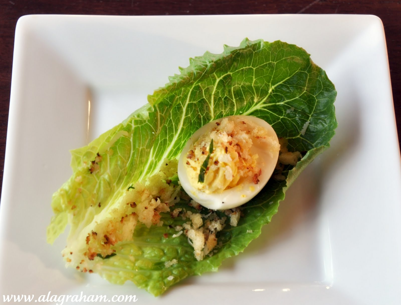 LA GRAHAM: CAESAR SALAD DEVILED EGGS