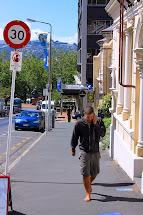 Barefoot Man On Street