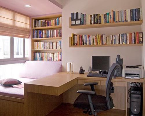 Easy home decor ideas study room vastu tips decorating for Small room office
