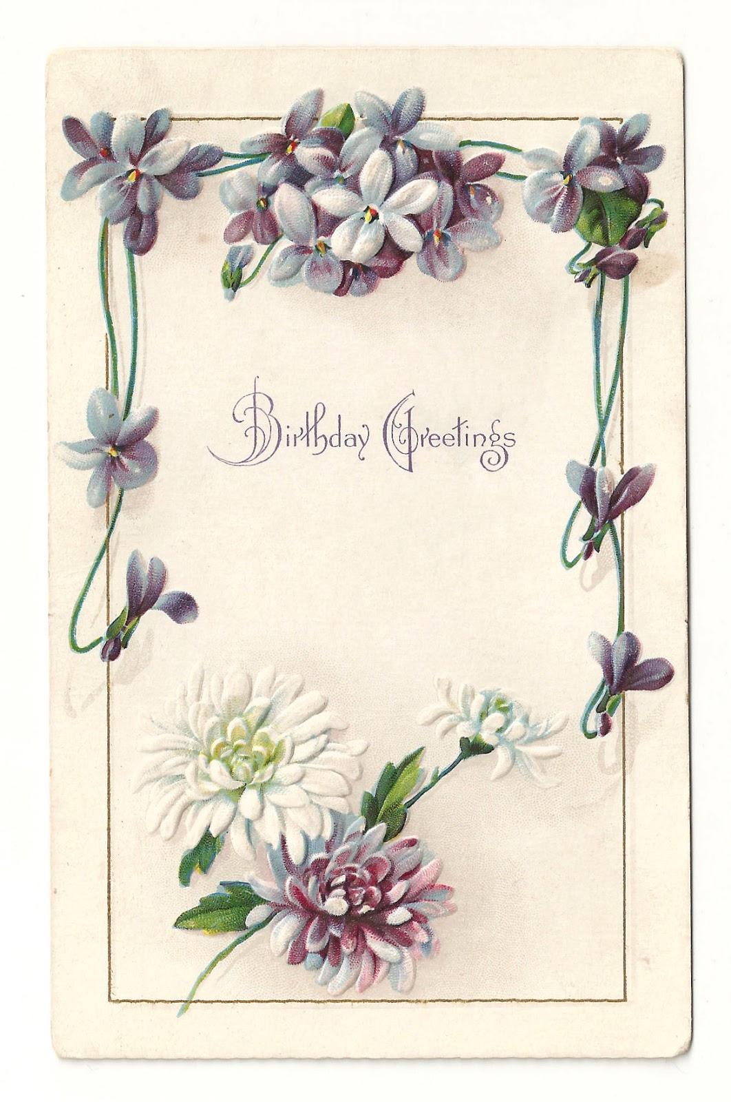 Antique Images: Free Printable Flower Frame: Vintage ...