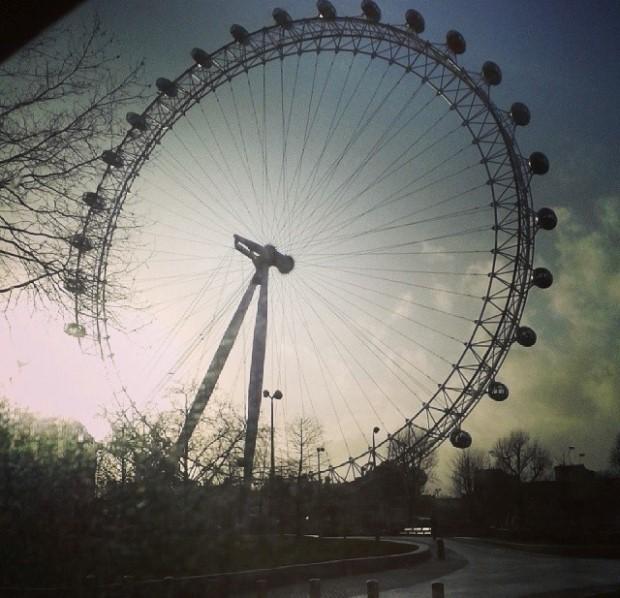 London Eye in the sunshine