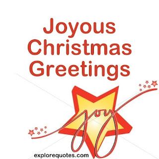 Joyous Christmas greetings