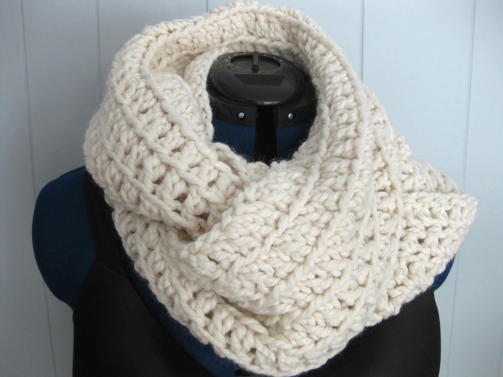 SEWmuchKNITting: Gap-inspired Infinity scarves