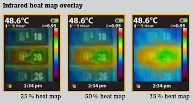 Fluke VT04 Thermometer heat map overlay