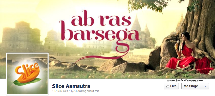 Facebook page of Slice Aamsutra