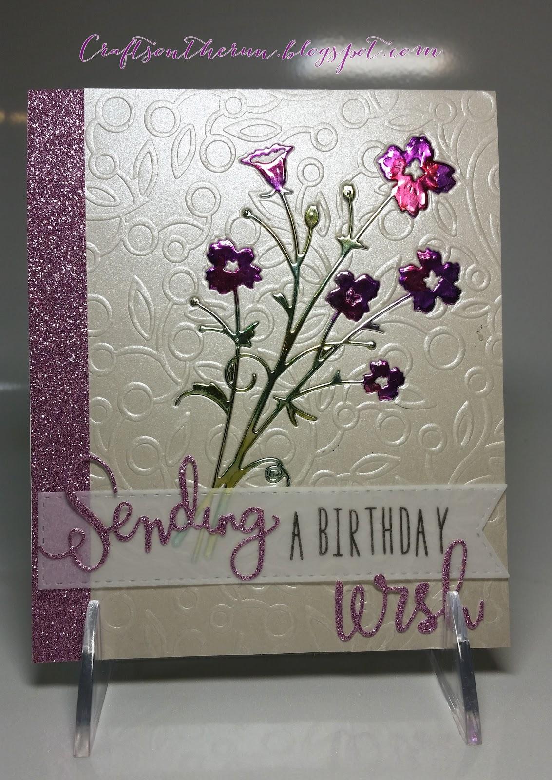 Memory Box, Alcohol Inks, Birthday Card