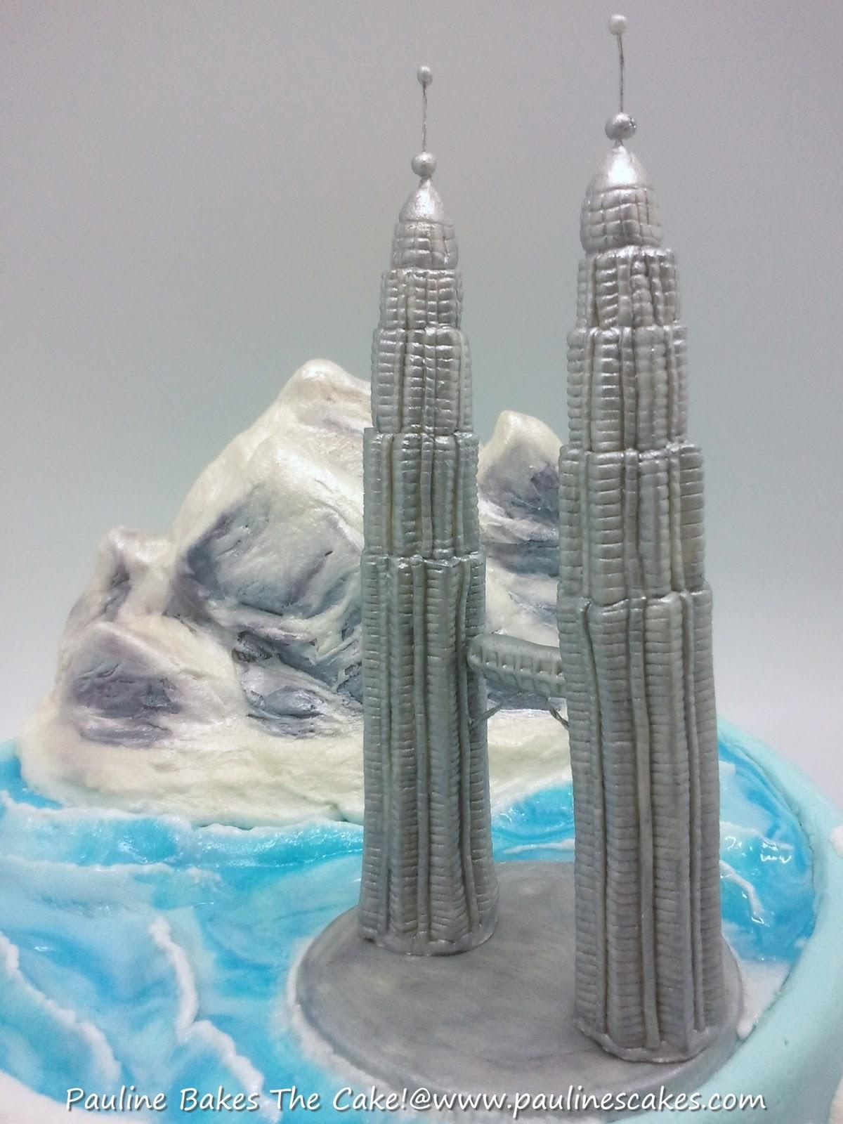 Twin Towers Cake