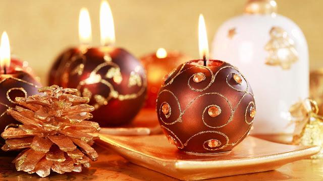 Velas redondas Feliz Navidad y Prospero Año nuevo 2013