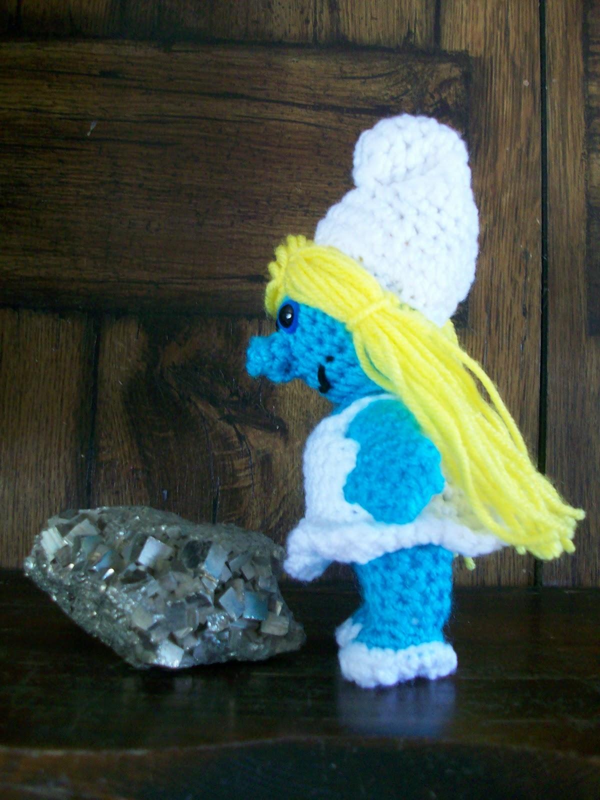 My crocheted world smurfette free crochet pattern rnd 1 6 sc in mc 6 bankloansurffo Image collections