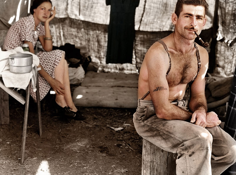Maderero desempleado en 1939